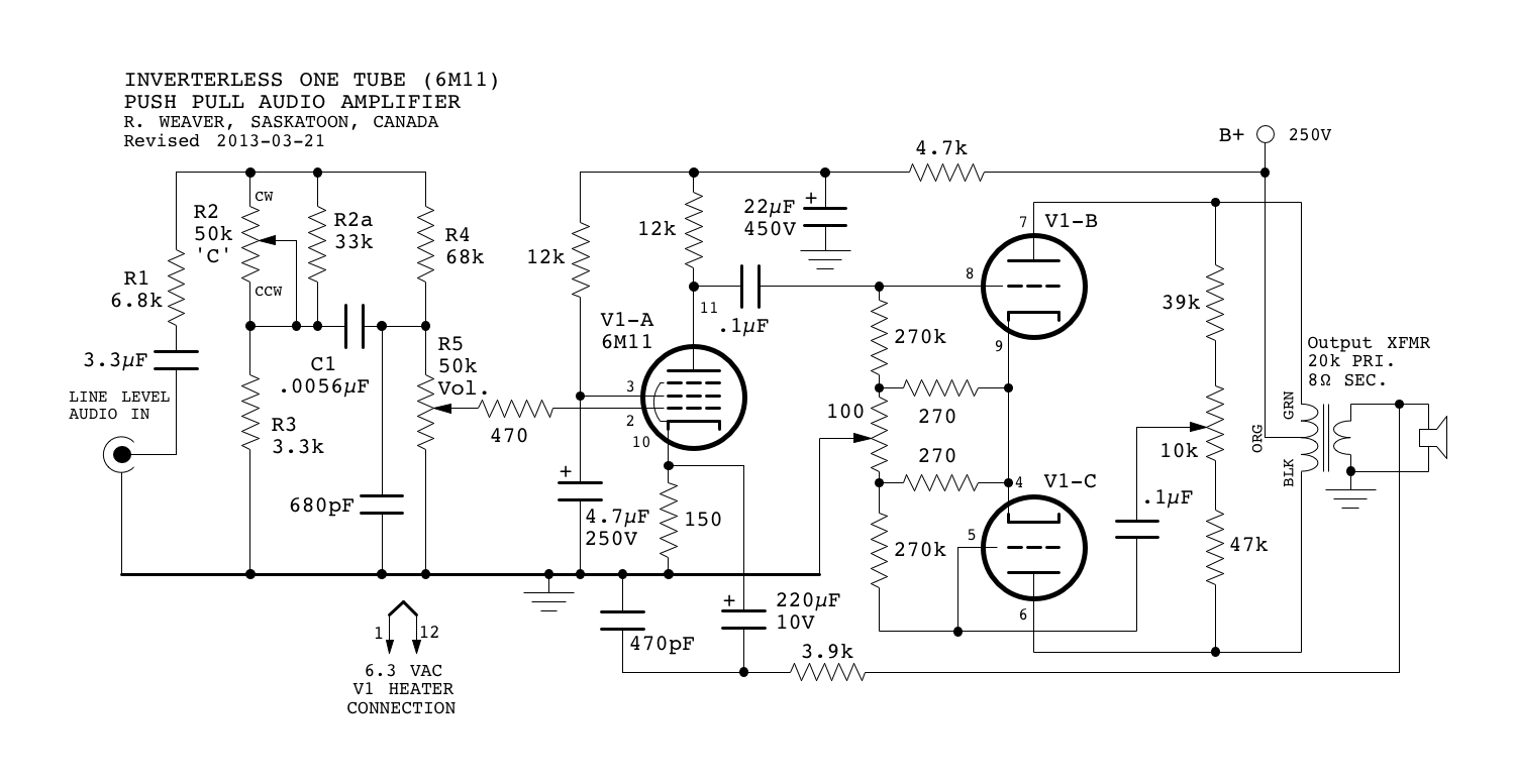 Mini Tube Audio Amplifier Part 2 Circuit Project And Explanation Electronic Circuits Click