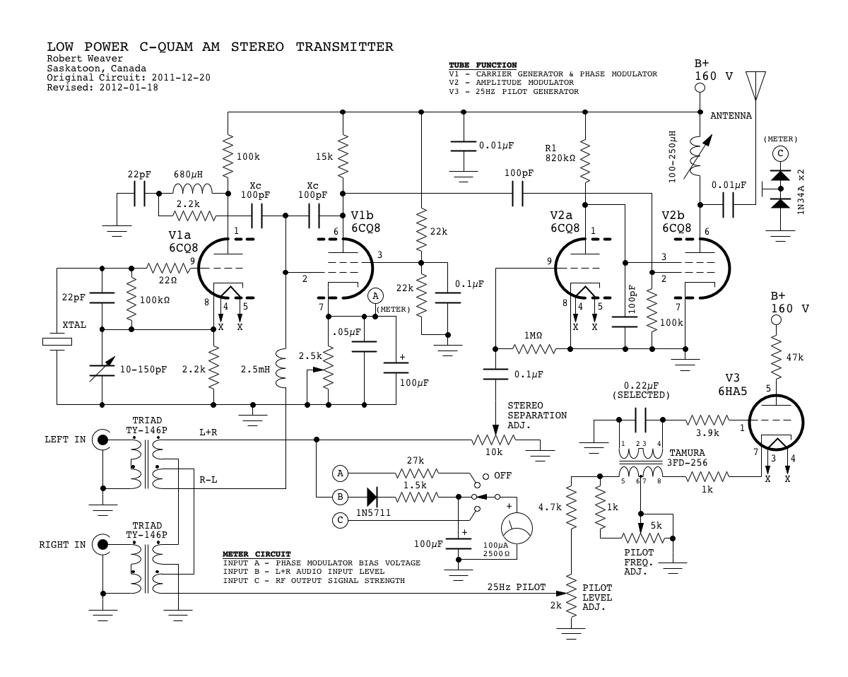 Am Radio Schematic Diagram Tube Wiring Libraries Cxa1019 Fm Circuit Electronic Circuits 3 Stereo Transmitteram 14