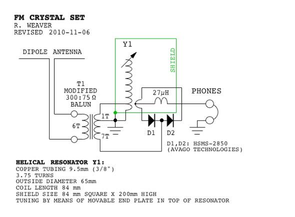 An FM Crystal Set Xtal Microphone Wiring Diagram on