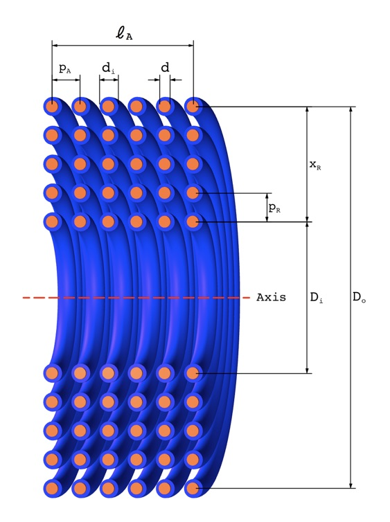 Multi layer coil inductance calculator all length diameter and pitch measurements are from centre to centre of the conductors as shown greentooth Images