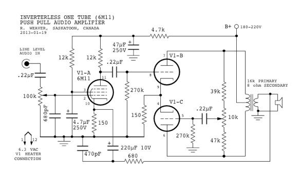 mini-tube audio amplifier